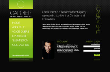 Carrier Talent Canadian and US Talent Agency